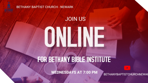 Bible Study returns on Wednesday, November 25