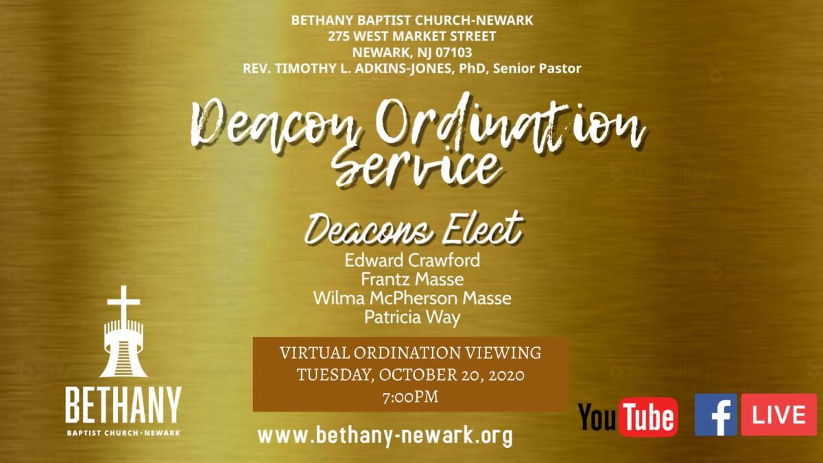 Virtual Deacon's Ordination