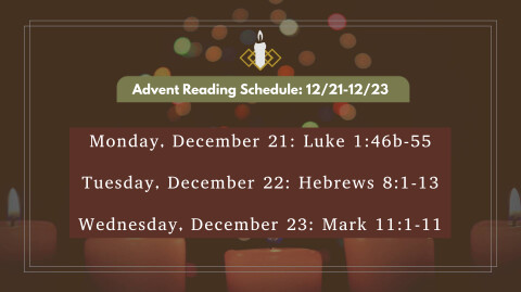 Advent-Themed Weekday Prayer Call