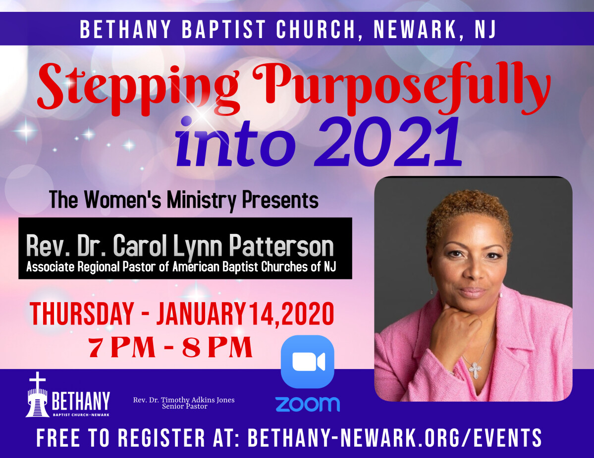 """Stepping Purposefully into 2021""- Women's Ministry January Meeting"