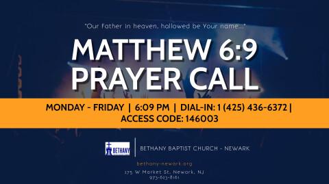 Weekday Prayer Call Returns Monday, January 4, 2021
