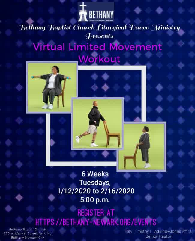 Bethany Baptist Church Dance Ministry Limited Movement Workout