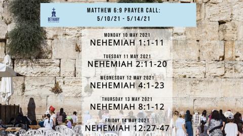 Prayer Call Readings 5/10/21 - 5/14/21